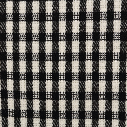 Black and white fancy check Linton Tweed