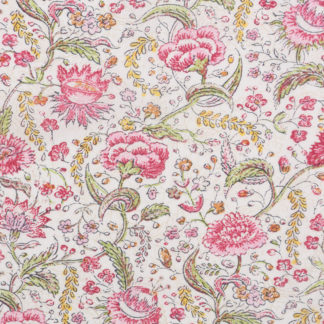 Indian Pink Floral Printed Lawn