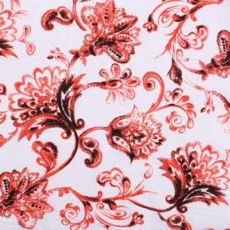 Dark Red Floral Light Cotton