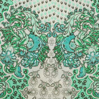 Fresh Green Print Cotton Lawn