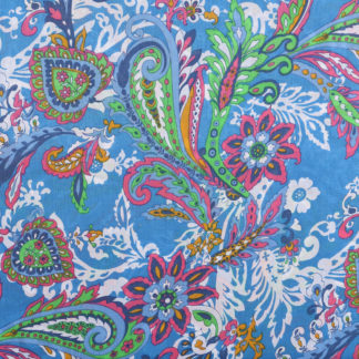 Sky Blue Printed Cotton Lawn