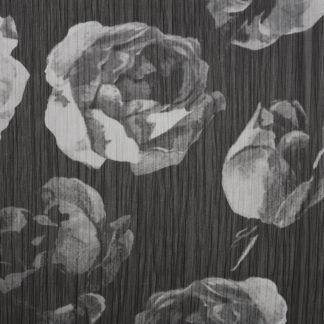 Grey Rose Printed Chiffon
