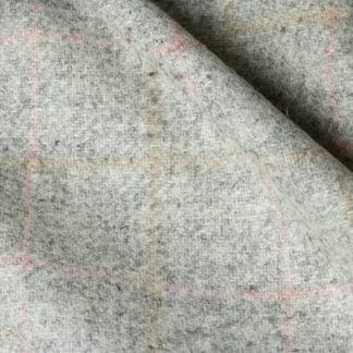 Soft grey wool check