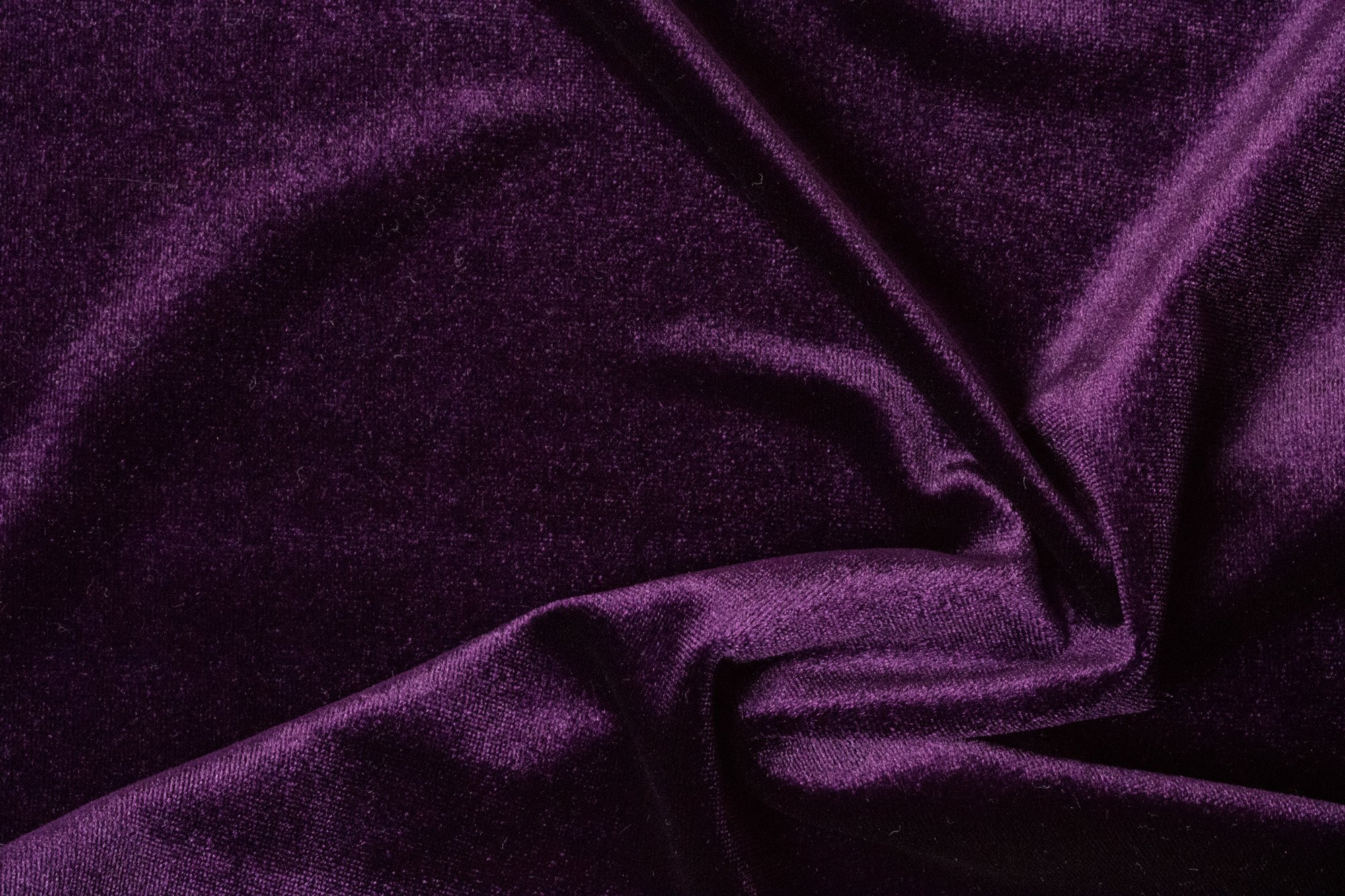 Royal purple jersey velour bloomsbury square dressmaking fabric - Velvet great option upholstery ...