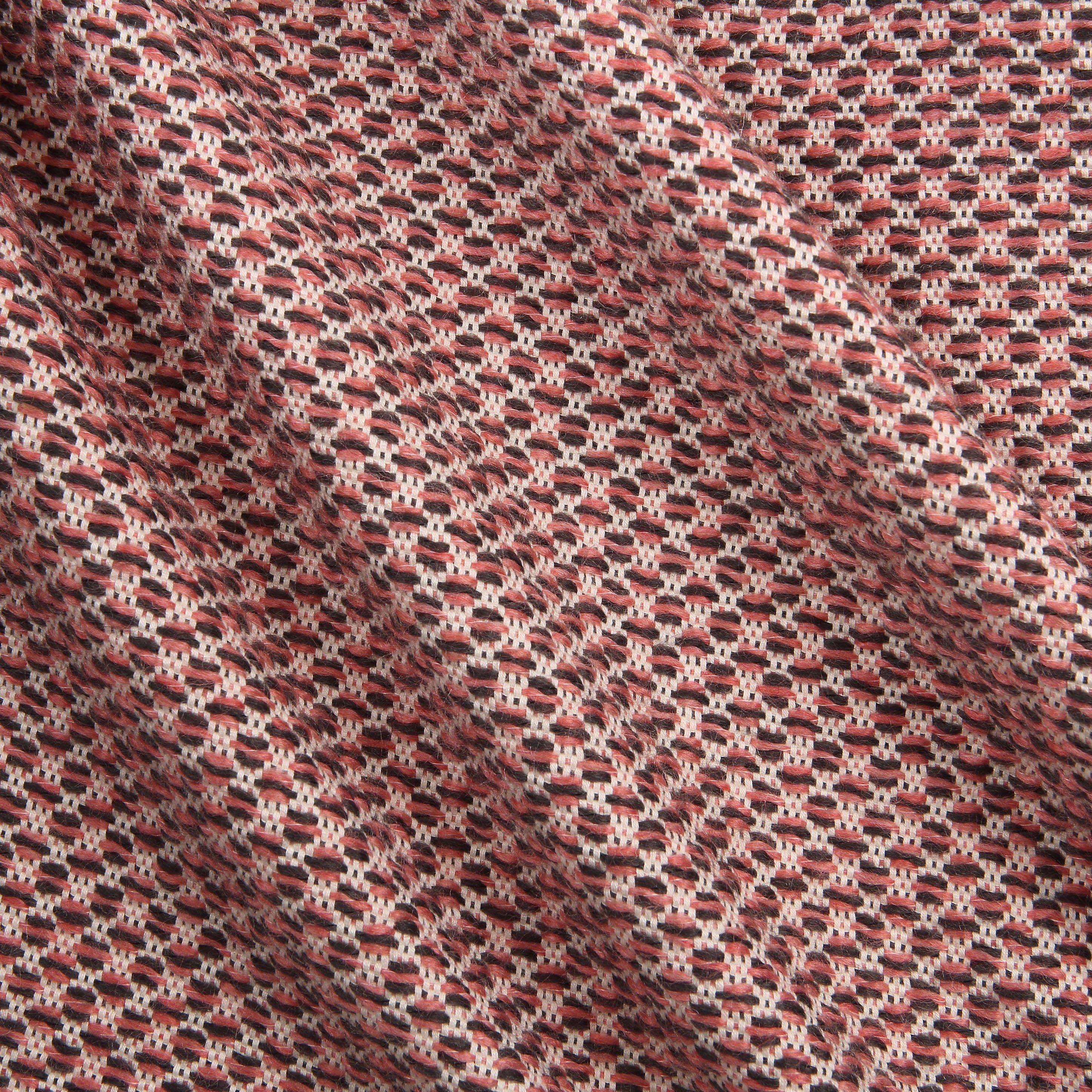 Pink honeycomb textured jacquard fabric in a soft cotton for Jacquard fabric