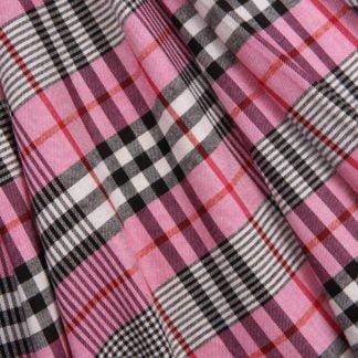 Pink-check-viscose-bloomsbury-square-fabrics-2322