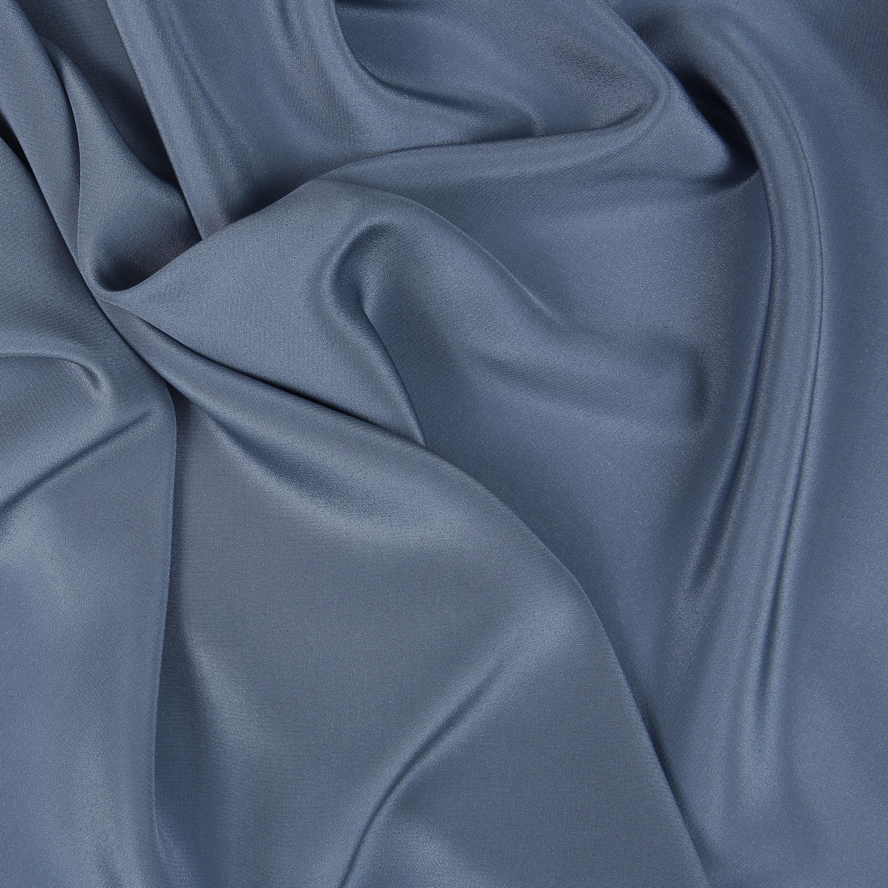 silk crepe de chine smoky blue bloomsbury square dressmaking fabric. Black Bedroom Furniture Sets. Home Design Ideas