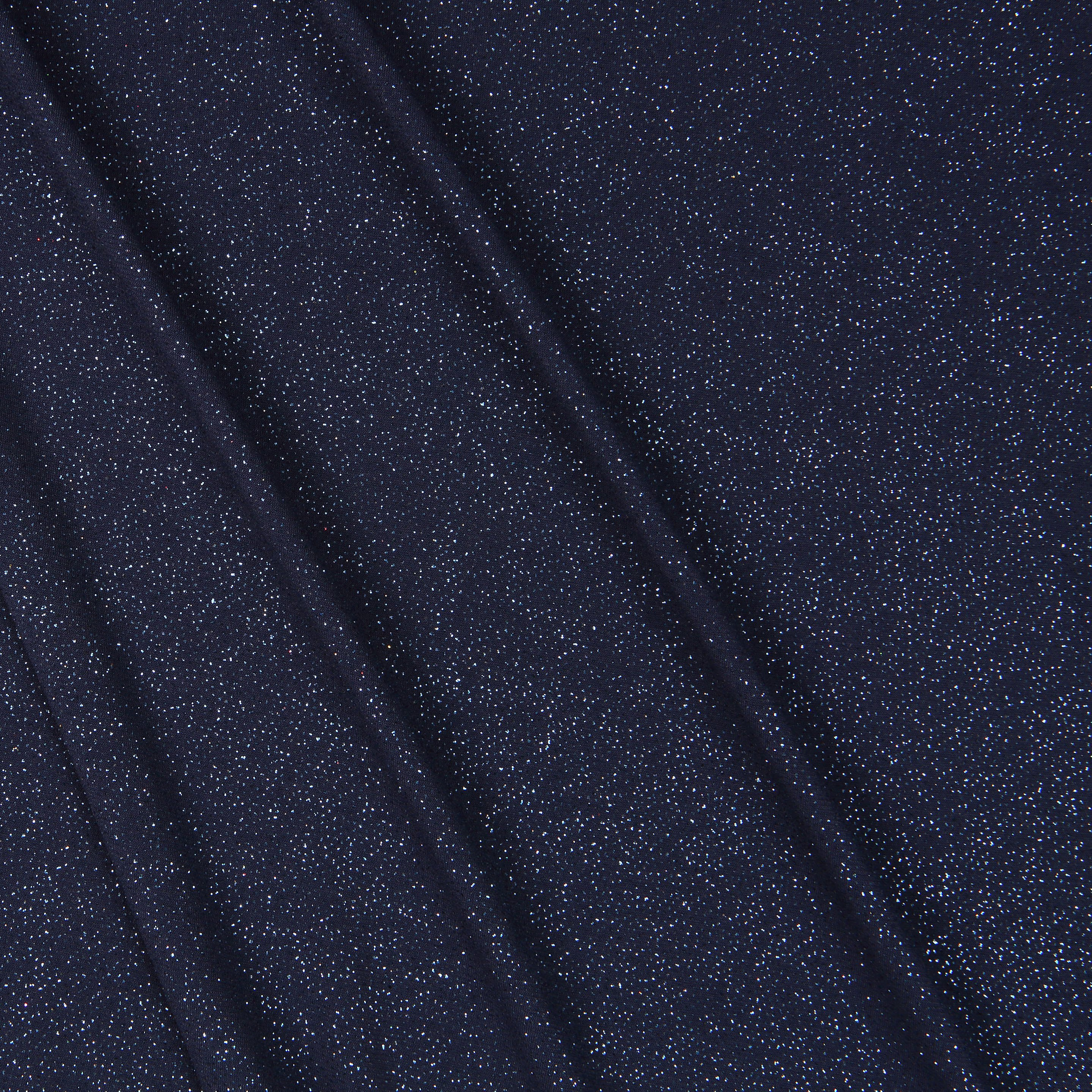 Sparkle jersey navy blue bloomsbury square dressmaking for Sparkly fabric