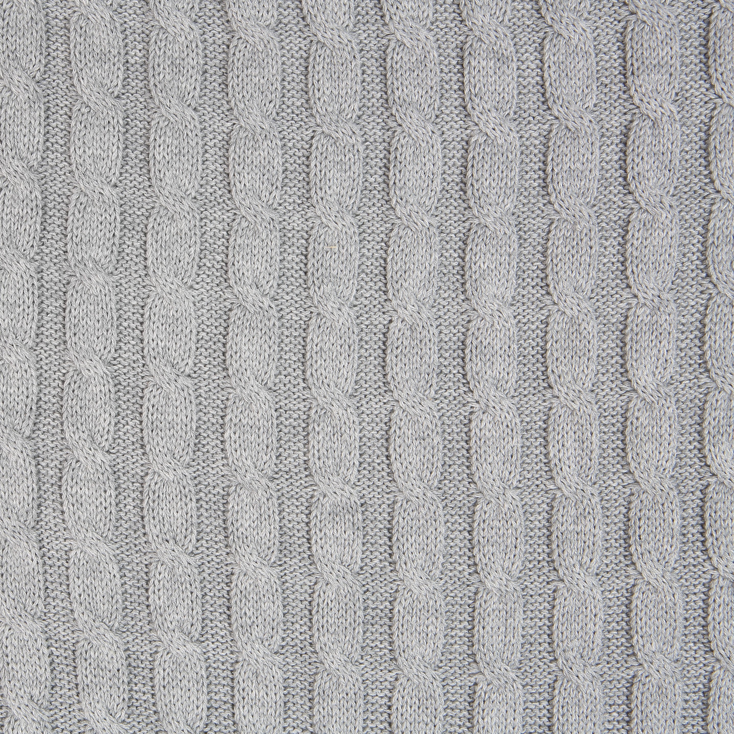 a9b9e242fc6 grey cable knit fabric which is soft to touch and great to wear.