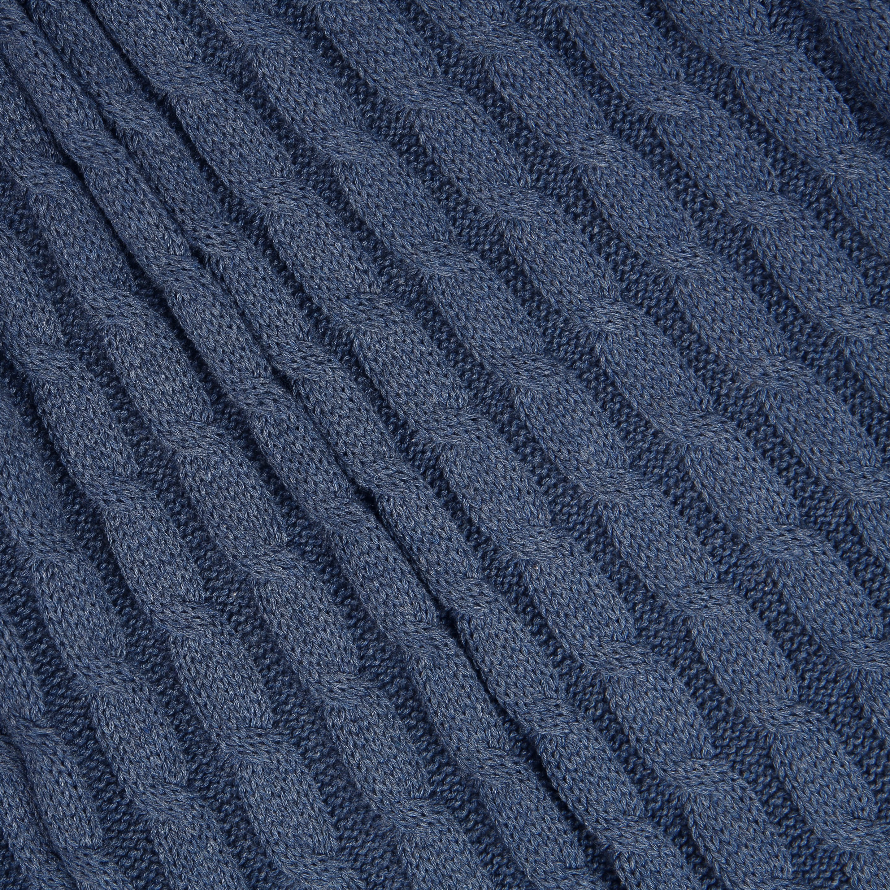 75a272c6c8e blue cable knit fabric which is soft to touch and great to wear.
