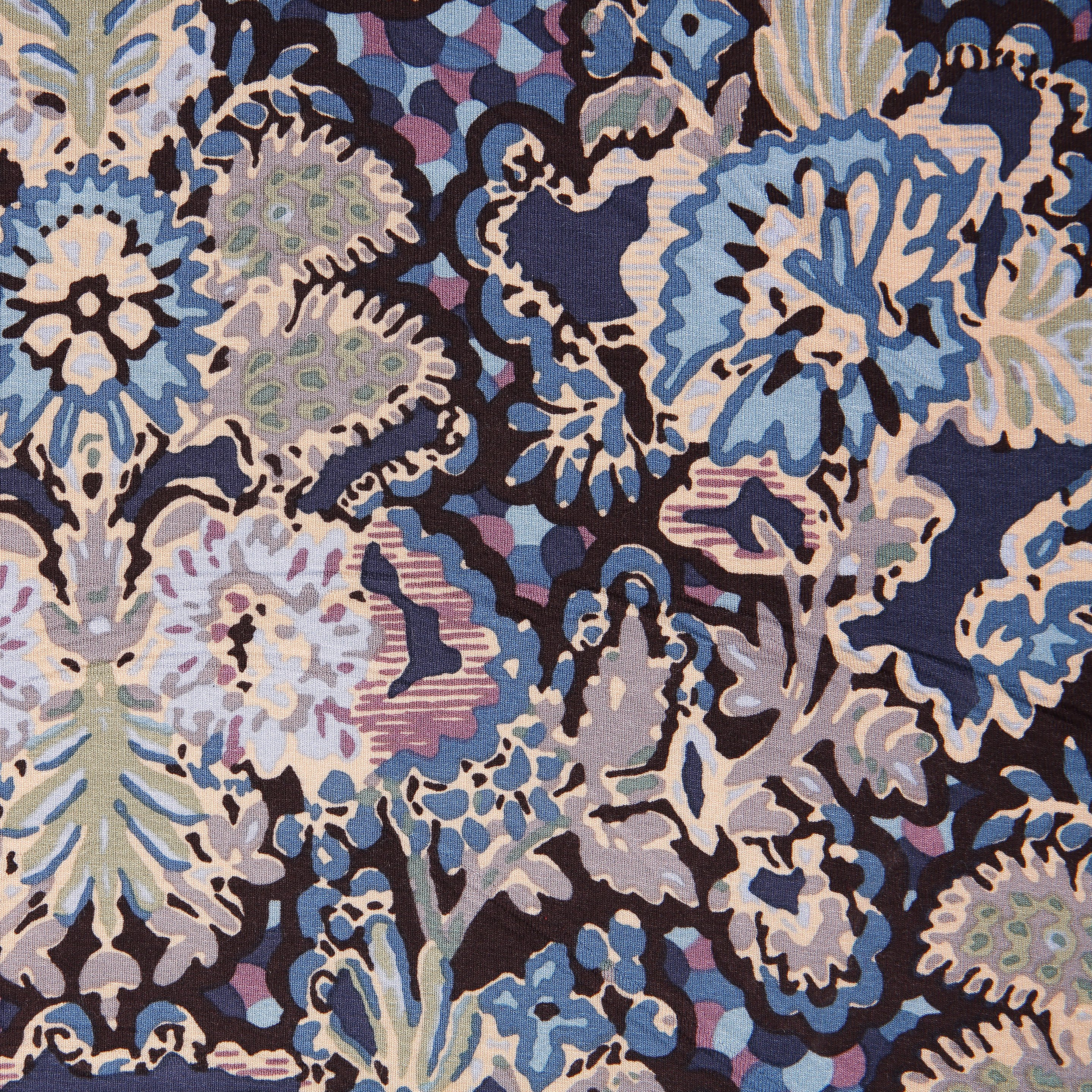 42d0aadf80b Cotton Jersey Blue Floral - Bloomsbury Square Dressmaking Fabric