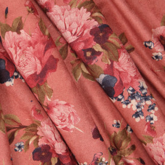 coral pink-flower-suede-bloomsbury-square-fabrics-3117