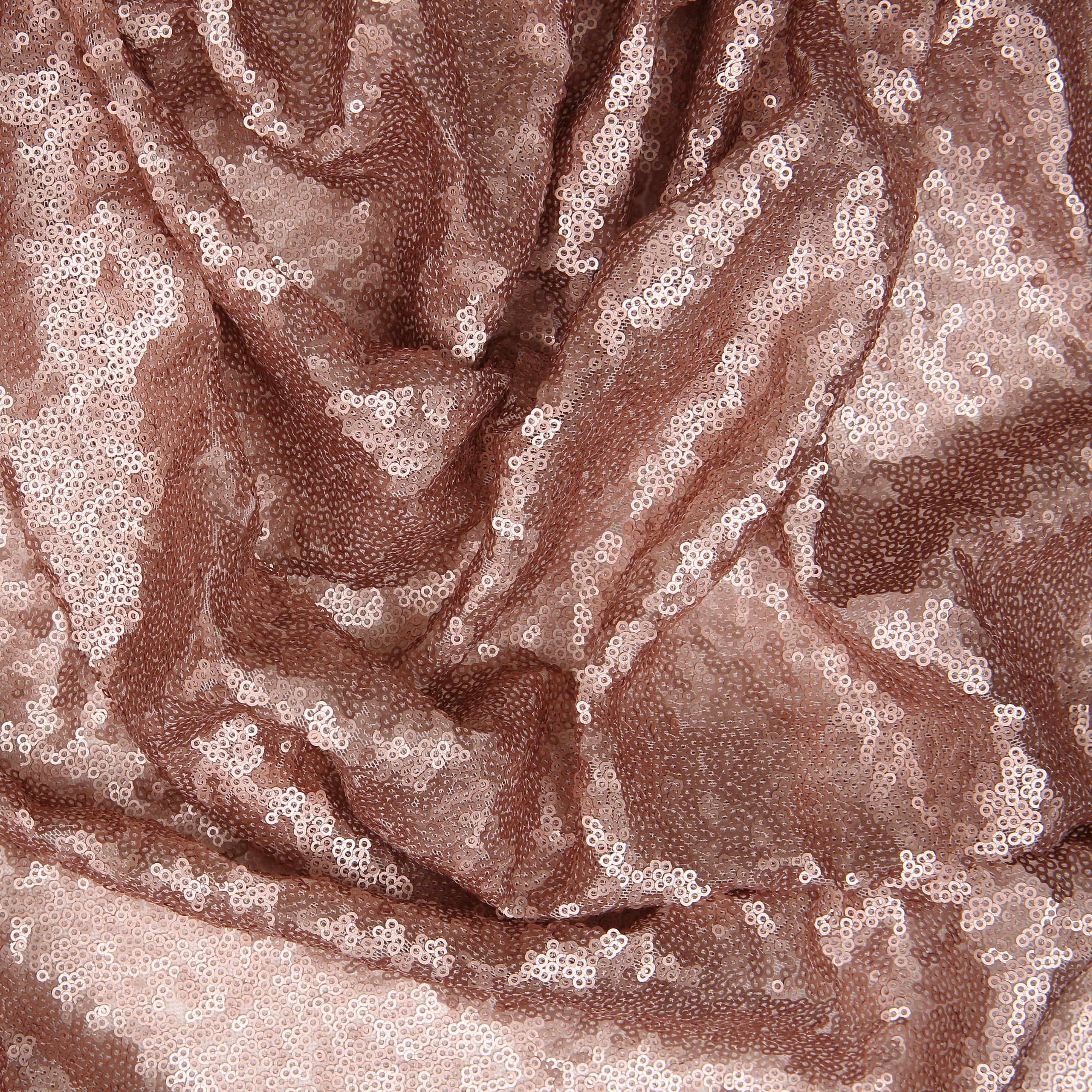 Rose Gold Bombshell Stretch Sequin Fabric for Sale - Lunss