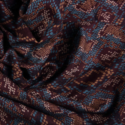 brown-and-turquoise-snakeskin-viscose-bloomsbury-square-fabrics-3343b
