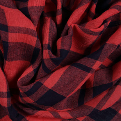 viscose-gauze-red-check-bloomsbury-square-fabrics-3713b