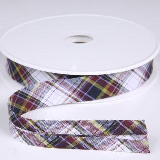 tartan bias binding H3181