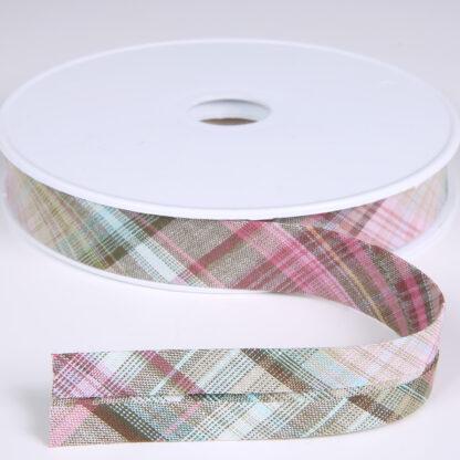 tartan bias binding H3182