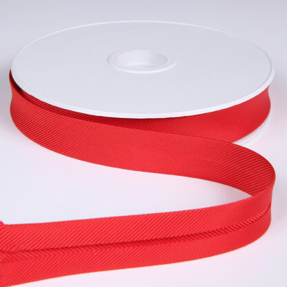 Gros Grain Bias Tape Scarlet 20mm