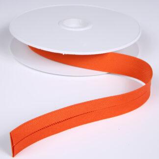 Gros Grain Bias Binding Orange 20mm