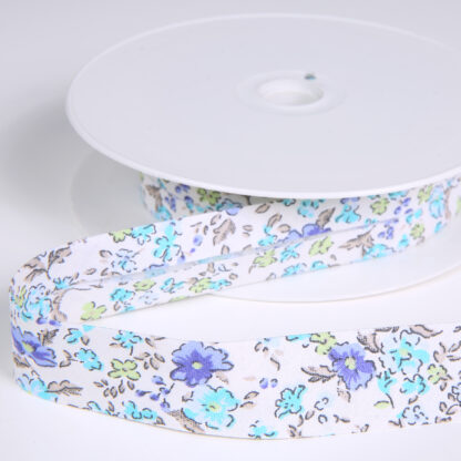 blue flower bias binding H80036