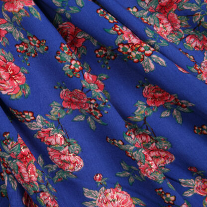 viscose-royal-blue-floral-with-gold-bloomsbury-square-fabrics-3827