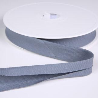 Blue Grey Pique Bias Binding 20mm