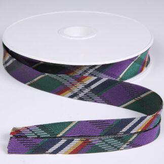 Purple and Green Bias Binding 20mm