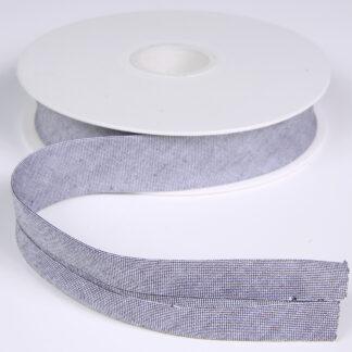 Denim Bias Binding Grey 20mm