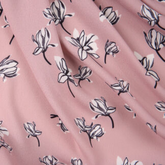 polyester-dress-crepe-pink-black-flowers-bloomsbury-square-fabrics-3897
