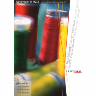 Gutermann Sew All Thread Shade Card ( Printed)