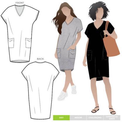 Kitt Knit Dress by Style Arc 90034
