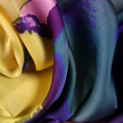 mystical-swirls-yellow-purple-blue-viscose-satin-bloomsbury-square-fabrics-3972