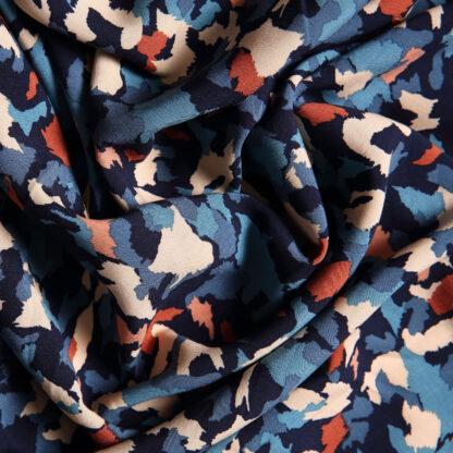 apricot-navy-camo-dress-viscose-bloomsbury-square-fabrics-4015