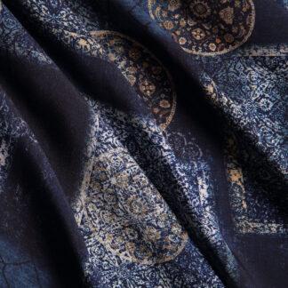 indigo-tile-print-dress-viscose-bloomsbury-square-fabrics-4013