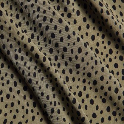 khaki-black-spot-dress-viscose-bloomsbury-square-fabrics-4017