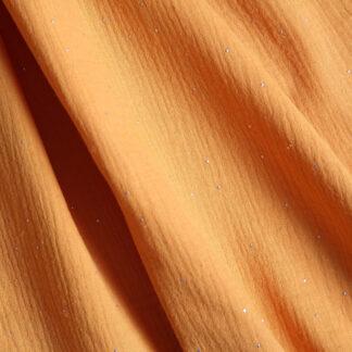 ochre-double-gauze-silver-dots-bloomsbury-square-fabrics-3977