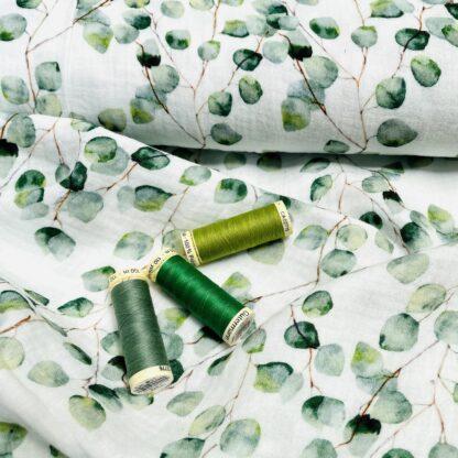 cotton-double-gauze-green-leaf-4112